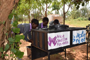 The Water Project: Matheani Secondary School -  Hand Washing Stations