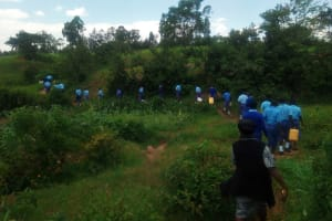 The Water Project: Eshisenye Girls Secondary School -  Walking To The Spring