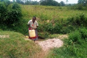 The Water Project: Shihingo Community, Mulambala Spring -  Current Water Source