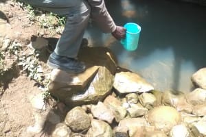 The Water Project: Mwichina Community, Mwichina Spring -  Current Water Source