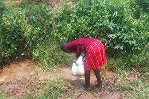 The Water Project: Ataku Community, Ataku Spring -  Fetching Water