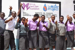 The Water Project: Matheani Secondary School -  Finished Tank