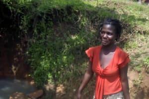 The Water Project: Musango Community, Ham Mwenje Spring -  Miriam Mwenje