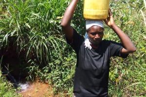 The Water Project: Sharambatsa Community, Mihako Spring -  Esther Luvale Karakacha