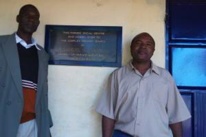 The Water Project: Mumias Complex Primary School -  Senior Teacher Douglas Awana And Deputy Headteacher Alusiola