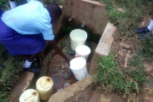 The Water Project: Eshisenye Girls Secondary School -  Fetching Water