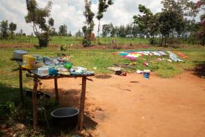 The Water Project: Shibuli Community, Khamala Spring -  Dish Rack And Clothes Drying