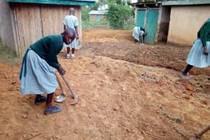 The Water Project: Madivini Primary School -  Students Preparing Drainage For Overflowing Latrines
