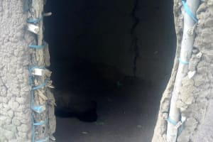 The Water Project: Mwituwa Community, Shikunyi Spring -  Latrine