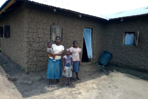 The Water Project: Esembe Community, Chera Spring -  Family That Uses Chera Spring
