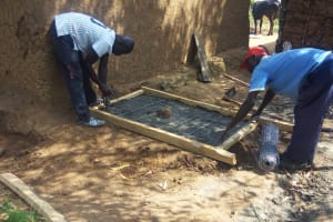 The Water Project: Shitoto Community, William Manga Spring -  Sanitation Platform Construction