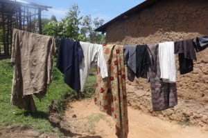 The Water Project: Shitungu Community, Omar Rashid Spring -  Clothesline