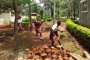 The Water Project: Lureko Girls Secondary School -  Carrying Bricks