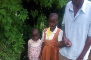 The Water Project: Musango Community, Jared Lukoko Spring -  Mr Jared And Some Of His Children