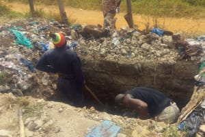 The Water Project: Shibale Primary School -  Latrine Pit