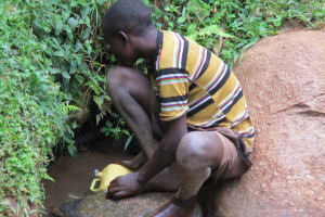 The Water Project: Bumavi Community, Esther Spring -  Current Water Source