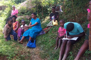 The Water Project: Kakubudu Community, Fred Lagueni Spring -  Training