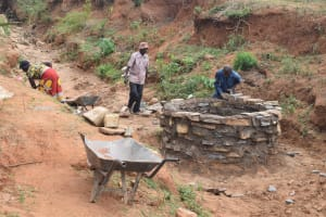 The Water Project: Kyumbe Community A -  Well Construction