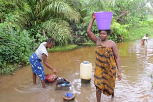 The Water Project: Kolia Community -  Current Water Source