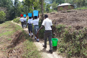 The Water Project: Imbale Secondary School -  Carrying Water