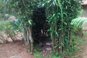 The Water Project: Bumavi Community, Esther Spring -  Bathing Shelter