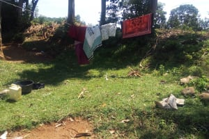 The Water Project: Elukani Community, Ongari Spring -  A Rare Clothesline