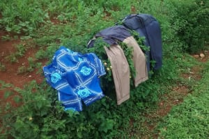 The Water Project: Shiru Community, Sammy Alumola Spring -  Clothes Drying