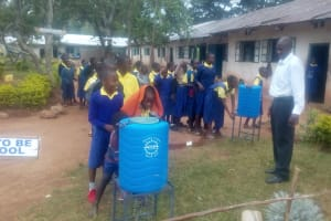 The Water Project: Gidagadi Primary School -  Hand Washing