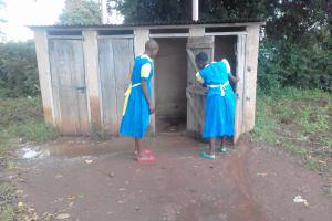 The Water Project: Chebunaywa Primary School -  Latrines