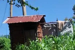 The Water Project: Ulagai Community, Aduda Spring -  Latrine