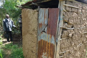 The Water Project: Elukuto Community, Isa Spring -  Latrine