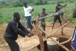 The Water Project: Rwentale-Kyamugenyi Community -  Excavation