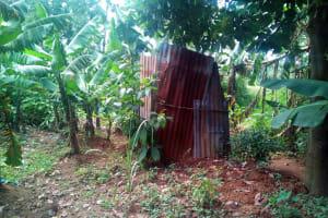The Water Project: Ikonyero Community, Jesse Spring -  Latrine