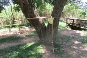 The Water Project: Futsi Fuvili Community, Simeon Shimaka Spring -  Hand Washing Station