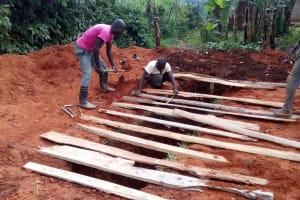The Water Project: Gidagadi Primary School -  Latrine Construction