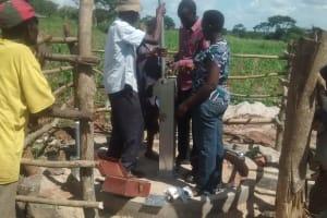 The Water Project: Byebega-Kirisa Community -  Pump Installation