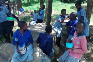 The Water Project: JM Rembe Primary School -  Students Eating Lunch