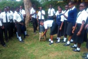 The Water Project: Shanjero Secondary School -  Hand Washing Station