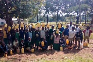 The Water Project: Esibeye Primary School -  Posing With Water