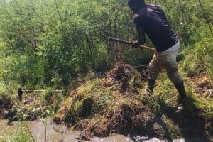 The Water Project: Matsakha A Community, Kombwa Spring -  Excavation