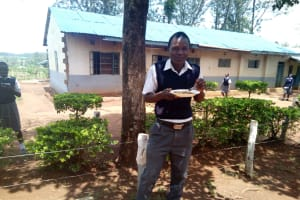 The Water Project: Imbale Secondary School -  Eating Lunch