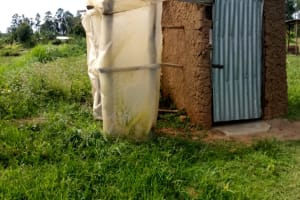 The Water Project: Musango Community, M'muse Spring -  Latrine