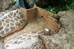 The Water Project: Luyeshe Community, Simwa Spring -  Spring Construction