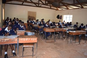 The Water Project: Mbuuni Secondary School -  Students In Class