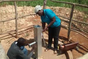 The Water Project: Rubani-Kyawalayi Community -  Pump Installation