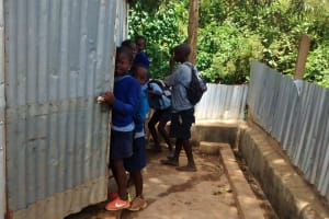 The Water Project: JM Rembe Primary School -  Latrines