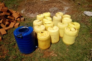 The Water Project: El'longo Secondary School -  Water Collected For Construction