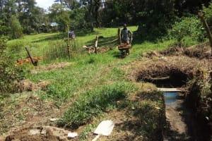 The Water Project: Matsakha A Community, Kombwa Spring -  Spring Construction