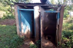 The Water Project: Esibeye Primary School -  Full Latrines
