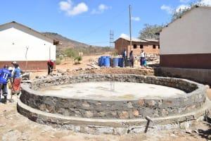 The Water Project: Kivani Primary School -  Tank Construction